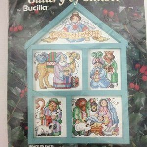 Vintage Bucilla Peace On Earth Cross Stitch Kit